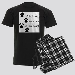 Cats leave paw prints on your heart tshirts Pajama