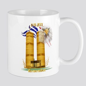 Gold Twin Towers, Eagle n Fla Mug