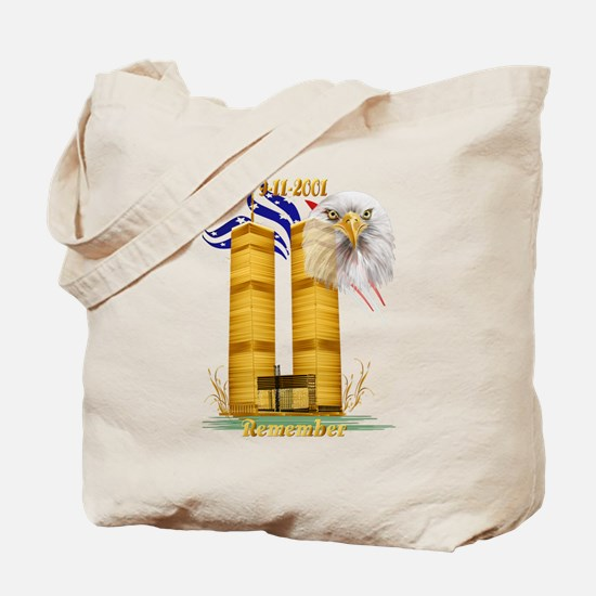 Gold Twin Towers, Eagle n Fla Tote Bag