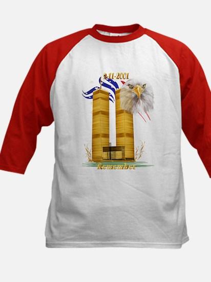 Gold Twin Towers, Eagle n Fla Kids Baseball Jersey