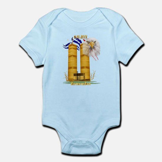 Gold Twin Towers, Eagle n Fla Infant Bodysuit