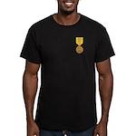 Vietnam Service Men's Fitted T-Shirt (dark)