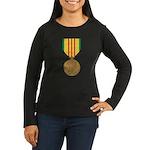 Vietnam Service Women's Long Sleeve Dark T-Shirt