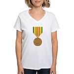 Vietnam Service Women's V-Neck T-Shirt