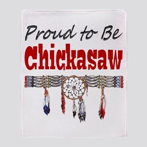 Proud to be Chickasaw Throw Blanket