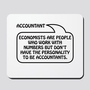 Accountant Bubble 1 Mousepad