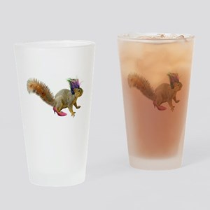 Dress-up Squirrel Drinking Glass