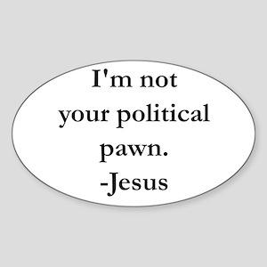 Political Pawn Sticker (Oval)