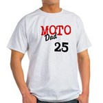 moto dad Light T-Shirt add race number