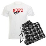 moto dad Men's Light Pajamas name & number on