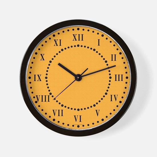 Pumpkin Satin Look Wall Clock