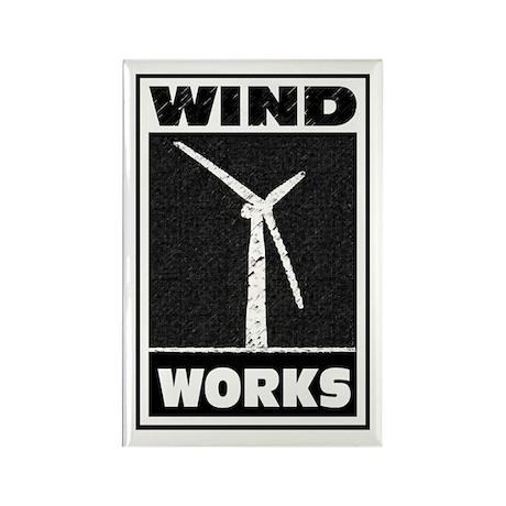 Wind Works: Rectangle Magnet
