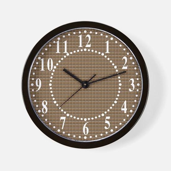 Segmented Brown Look Wall Clock