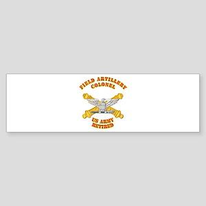 Artillery - Officer - COL - Retired Sticker (Bumpe