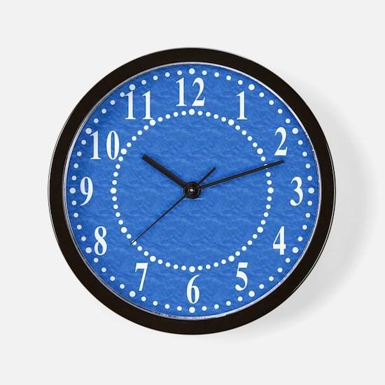 Textured Light Blue Look Wall Clock