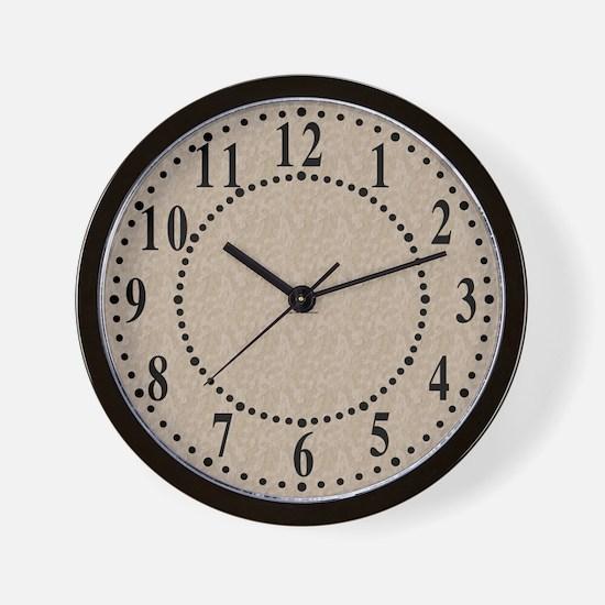 Tan Cement Look Wall Clock