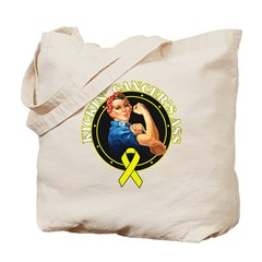 Kickin' Bladder Cancer's Ass Tote Bag