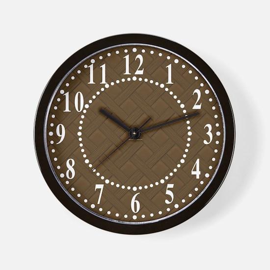 Brown Trellis Look Wall Clock