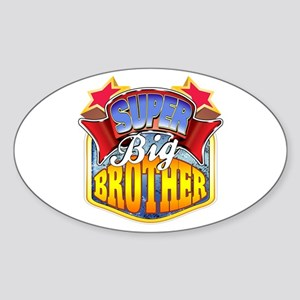 Super Big Brother Sticker (Oval)