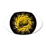 skull and hand bones 22x14 Oval Wall Peel