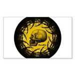 skull and hand bones Sticker (Rectangle 10 pk)