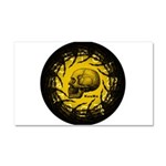 skull and hand bones Car Magnet 20 x 12