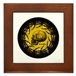 skull and hand bones Framed Tile