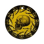 skull and hand bones Ornament (Round)