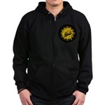 skull and hand bones Zip Hoodie (dark)