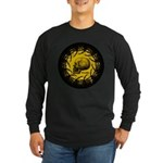 skull and hand bones Long Sleeve Dark T-Shirt