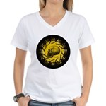 skull and hand bones Women's V-Neck T-Shirt