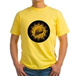 skull and hand bones Yellow T-Shirt