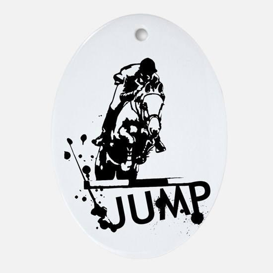 EQUESTRIAN JUMP Ornament (Oval)
