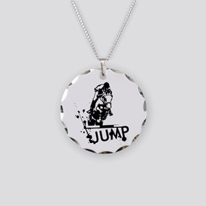 EQUESTRIAN JUMP Necklace Circle Charm