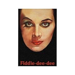 Fiddle-Dee-Dee Rectangle Magnet