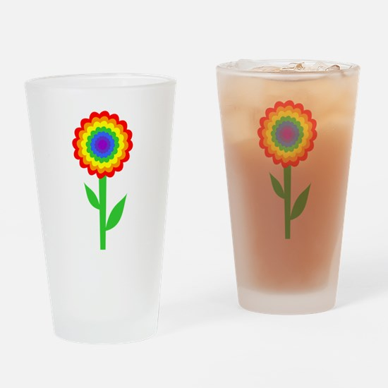Flower, Bright and Colorful Drinking Glass