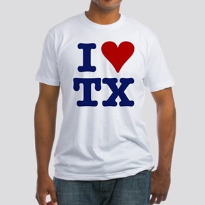 I LOVE TX Fitted T-Shirt