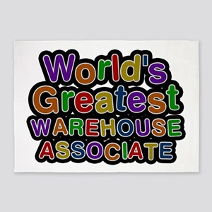 World's Greatest WAREHOUSE ASSOCIATE 5'x7' Area Ru