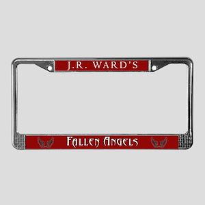 Red JR Ward's Fallen Angels License Plate Frame