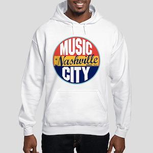 Nashville Vintage Label Hooded Sweatshirt