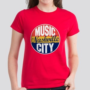 Nashville Vintage Label Women's Dark T-Shirt