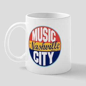 Nashville Vintage Label Mug