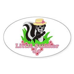 Little Stinker Jo Sticker (Oval)