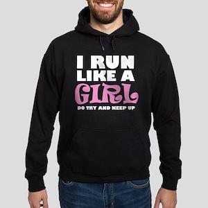 'I Run Like a Girl' Hoodie (dark)