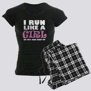 'I Run Like a Girl' Women's Dark Pajamas