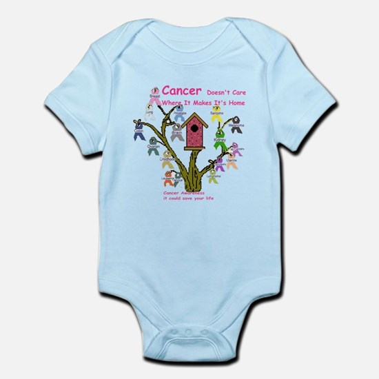 Cancer dosnt care where it gr Infant Bodysuit