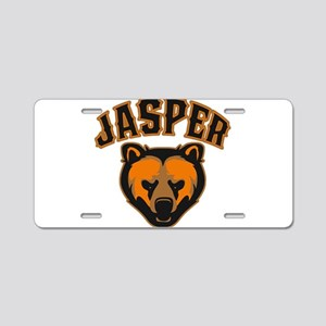 Jasper Bear Face Aluminum License Plate