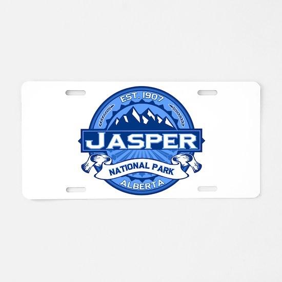Jasper Cobalt Aluminum License Plate