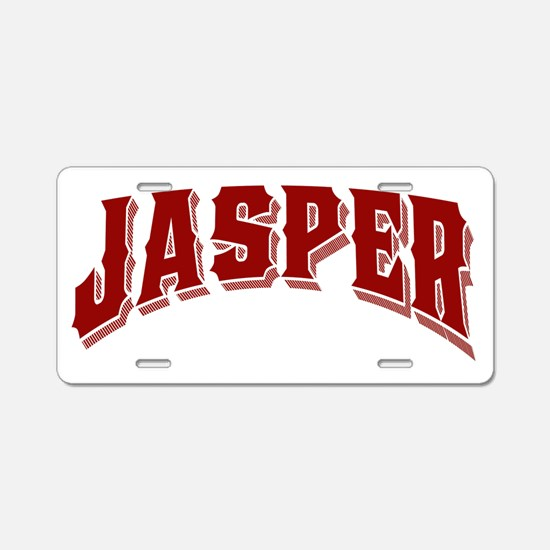 Jasper Old Style Canada Red Aluminum License Plate
