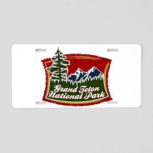 Grand Teton Mountains Aluminum License Plate